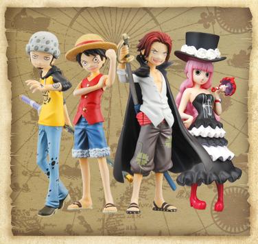 4月3日予約開始!新作 Half Age Characters promise of the straw hat ルフィ/シャンクス/2年後ペローナ/トラファルガー・ロー 画像