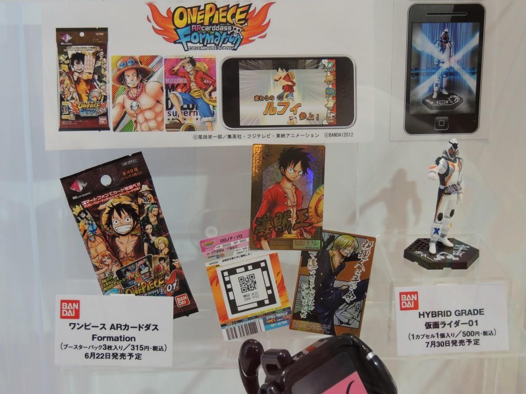 【画像レポ:東京おもちゃショー2012】ワンピース ARカードダス Formation(ブースターパック3枚入り)6月22日発売予定