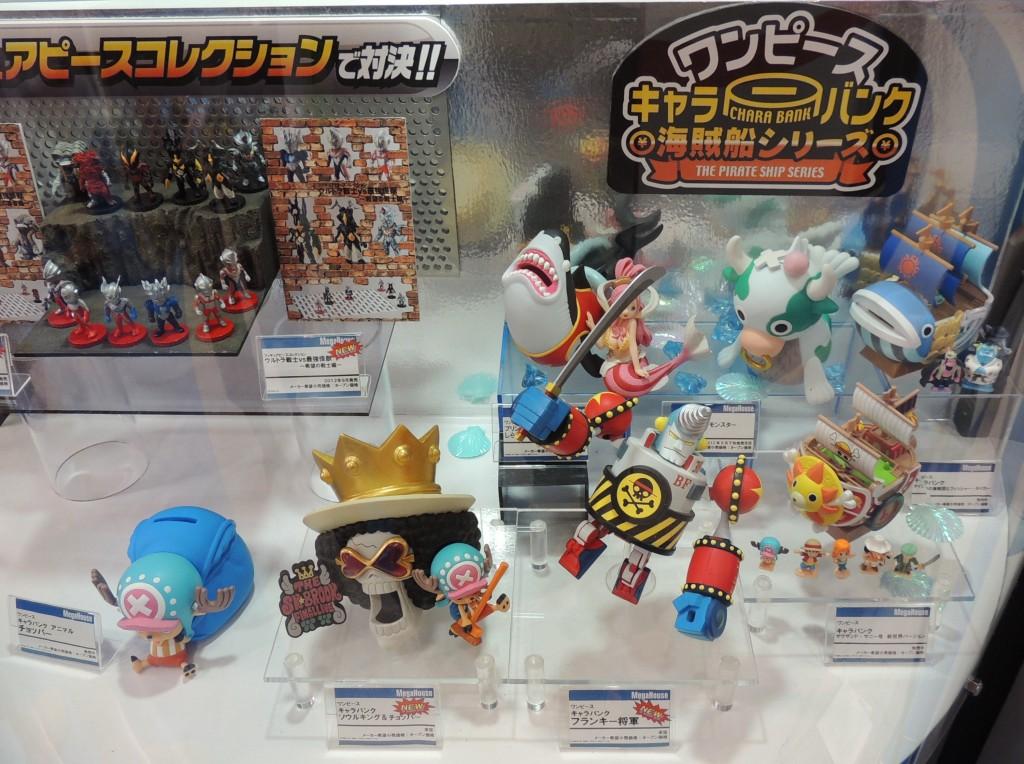 【画像レポ:東京おもちゃショー2012】ワンピース キャラバンクシリーズ(貯金箱)